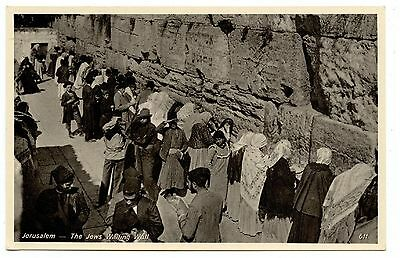 Judaïca.juif.jerusalem.juifs Au Mur Des Lamentations.jews At The Wailing Wall.