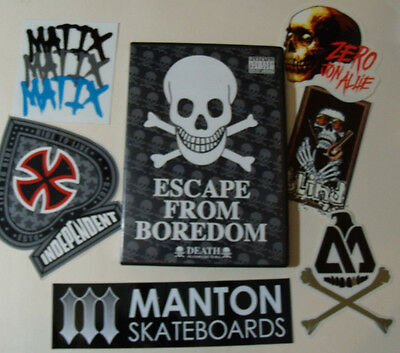 DEATH Skateboard DVD & Sticker Lot Set Skate Zero Blind Independent Matix Manton