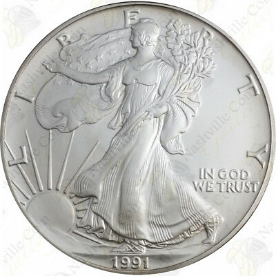 1991 1 oz American Silver Eagle - Brilliant Uncirculated - SKU #1385