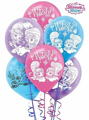 Shimmer And Shine Party Supplies LATEX BALLOONS Pack Of 6 12 Inch 30.4 cm Large