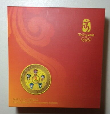 Beijing Olympics 2008 Fuwa's Blessing Commemorative Medallion Gold Plated