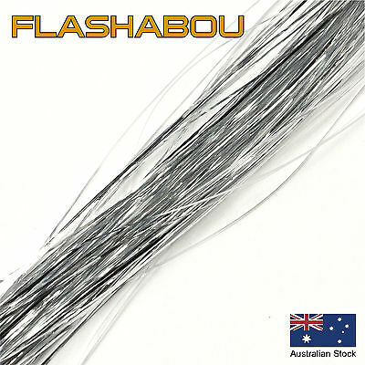Silver Flashabou 0.5mm - Tinsel, Fly Tying Materials, Jig Assist