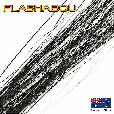 Black Flashabou 0.5mm - Tinsel, Fly Tying Materials, Snapper, Jig Assist