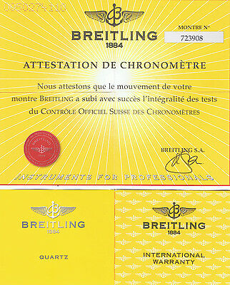 Breitling Callistino D72345 International Warranty Chronometré Certificat I251
