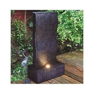 Luxurious Tall Garden Water Feature Fountain With Led Light Outdoor Decoration