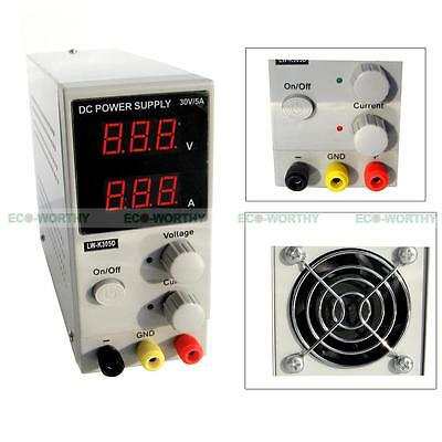 Switching DC Power Supply Adjustable Variable 0-30V 0-5A 30V 5A Fan Cooling