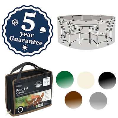 Gardman Deluxe 8-10 Seater Round Patio Set Cover Waterproof Furniture 5 Colours