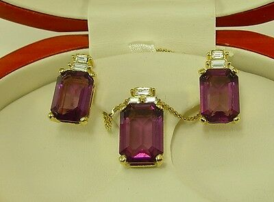 Christian Dior Amethys Pendent Necklace Earring Set