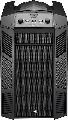 Aerocool Xpredator Cube Black Mini Tower mATX Gaming Computer PC Case Window