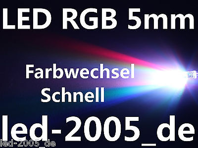 20 x LED RGB 5mm Farbwechsel Schnell,LED 5mm RGB,LED 5mm Red Green Blue,