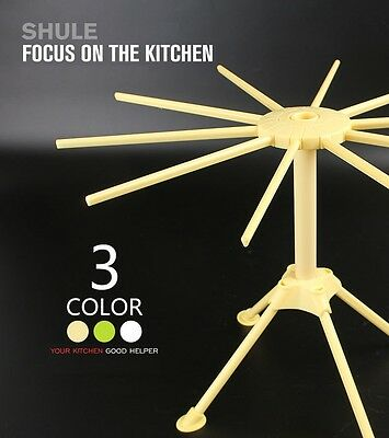 ABS Pasta Drying Rack Stand 28cm  durable and disassembles with 10 drying arms
