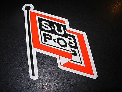"SUB POP RECORDS SEATTLE 4"" FLAG LOGO Sticker Decal pearl jam nirvana"