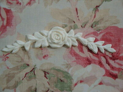 New! FLEXIBLE Rose with Leaves Swag Furniture Applique Architectural Pediment