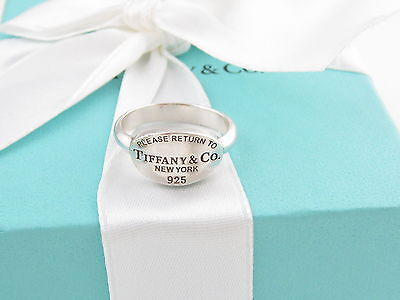Authentic Tiffany & Co Return To Tiffany Oval Ring Size 7 Box Incuded