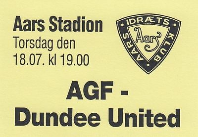 Ticket - AGF v Dundee United (18 July) Pre-Season Friendly