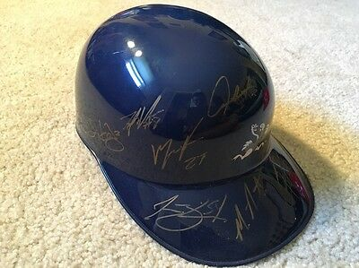 2013 Reading Phillies Team Signed batting helmet with Maikel Franco