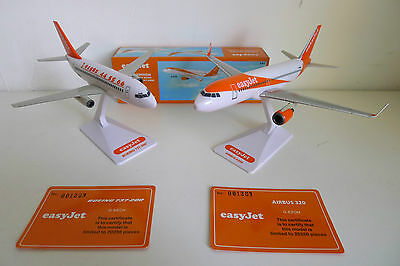 easyJet Boeing 737 & Airbus A320 limited edition models, BRAND NEW, 1:200 scale