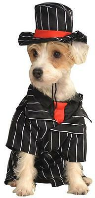 Mob Dog Mafia Boss Gangster Fancy Dress Up Halloween Pet Dog Cat Costume