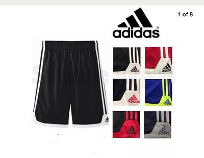 New Adidas Boy's Athletic Gym Shorts W/ Pockets Basketball Soccer Sports Variety
