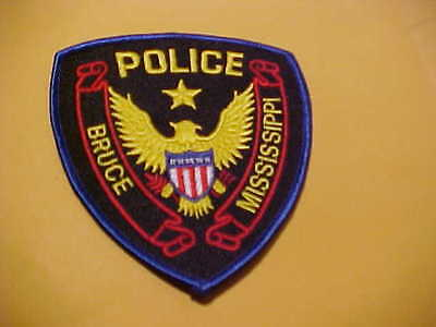 Bruce Miss.   Police Patch Shoulder Size Unused