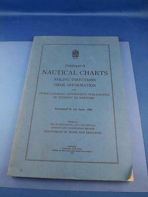 Catalog Nautical Charts Sailing Directions Tidal Information 1946 Fold Out Maps