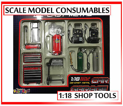 1:18 1-18 1/18 118 Kinsfun Gmp Style Garage Workshop Tool Accesories Set New