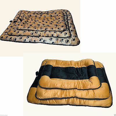 Super Soft Luxury Comfy Dog/Puppy/Cat/Pet Bed Cushion Fur/Fleece S/M/L Washable