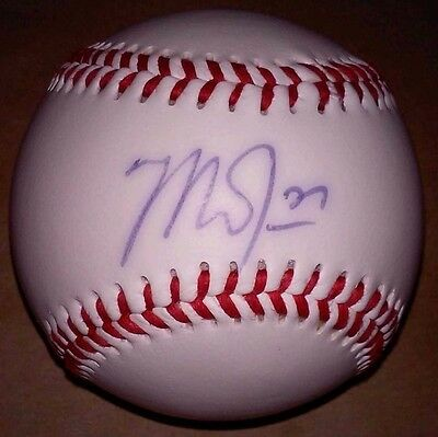 Mike Trout Los Angeles Angels 2014 & 2016 Mvp Authentic Signed Official Baseball