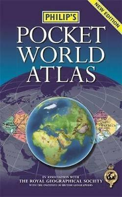 NEW Philip's Pocket World Atlas By Philip's Paperback Free Shipping