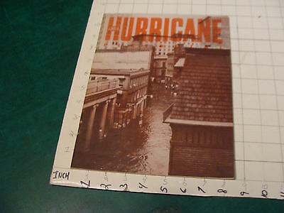 vintage booklet: Providence 1954 HURRICANE 36 pages filled with Photos of damage