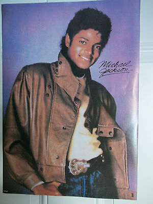 Vintage 1980's Michael Jackson Leather Jacket Poster - NEW!