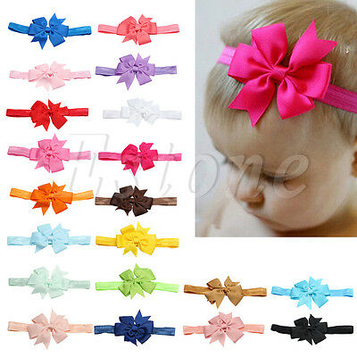 20PCS Headband Kids Girl Baby Toddler Bow Flower Hair Band Accessories Headwear