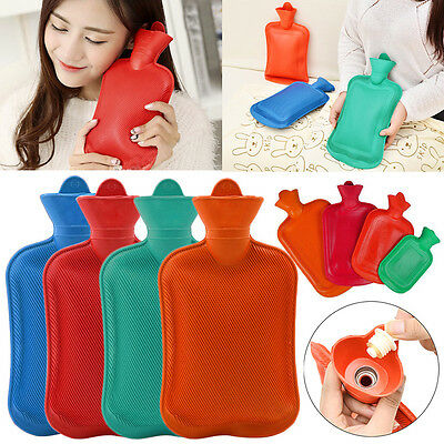 Thick Rubber Hot Water Bottle Bag Warm Relaxing Heat Cold Therapy Reusable Gift