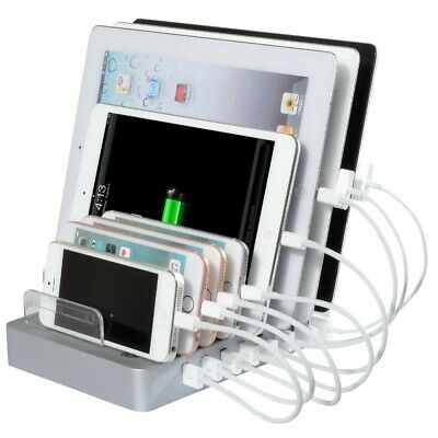 8 Slots Port USB Multi-Function Wall Charger Charging Station Stand Tablet Phone