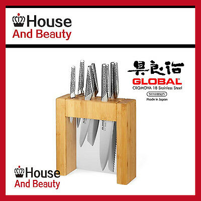 New Global Ikasu 7 Piece Knife Block Set 79585, Authorised Seller, RRP $859 -60%