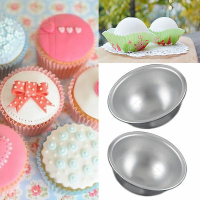 1Pc Trendy Aluminum Ball Silver Sphere Bath Bomb Mould Pastry Cake Baking Mold