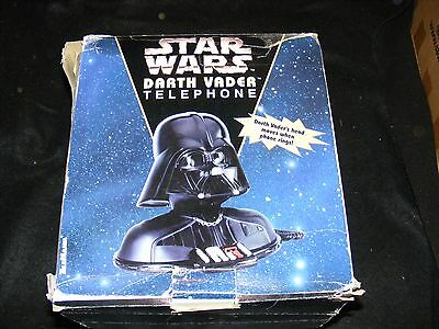 Vintage STAR WARS 80s DARTH VADER Telephone Moves Rings Classic COLLECTIBLE Box