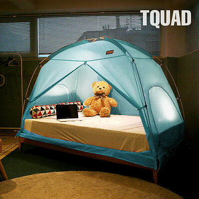 TQUAD Indoor Privacy Tent on Bed Insulation for Warm Cozy Sleep in Drafty Room