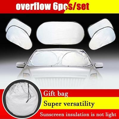 6pcs/set Car Window Sun Shade Foldable Windshield Full Shield Block Cover F#