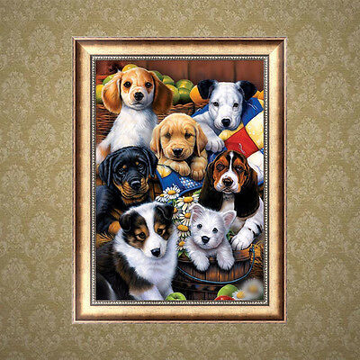 Dogs DIY Animal 5D Embroidery Diamond Sticker Cross Stitch Painting Home Decor