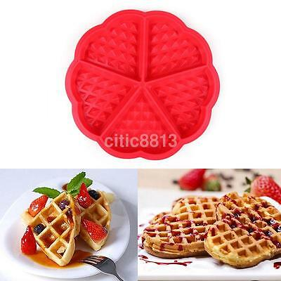 New Family Silicone Waffle Mold Maker Pan Baking Cookie Cake Muffin Cooking Tool