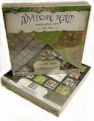 Adventure Realm Roleplaying Game Map Tiles - Town and Wilderness Set *BRAND NEW*