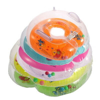 New Baby Kids Infant Swimming Neck Float Inflatable Tube Ring Safety LE