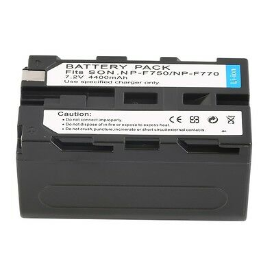 NEW 7.2V 4400MAH Replacement Li-Ion Battery for Sony NP-F750/770 /730 LE