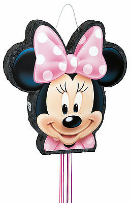 Minnie Mouse | Pink Dot Bow Party Pull String Pinata | Game