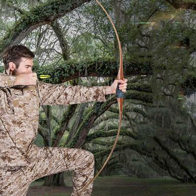 IRQ Archery Traditional Wooden Longbow Hunting Shooting Practice RH Recurve Bow