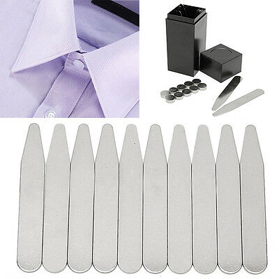 21pcs Magnetic Metal Collar Stays with Coated Magnet Insert In Box For Men Shirt