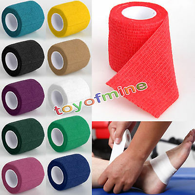 First Aid Self-Adhesive Finger Muscles Ankle Elastic Bandage Gauze Dressing Tape