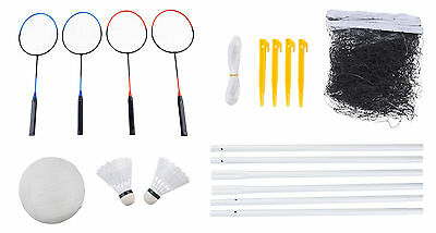 Stella Badminton and Volleyball Set - Net, Poles, Racquets, Shuttles, VolleyBall