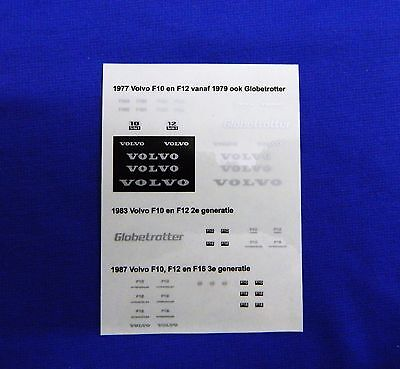 1:50 Scale Volvo F10, F12, F16 Globetrotter Sticker Set. * Brand New *